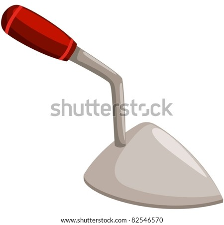 illustration of isolated  small shovel on white background - stock vector