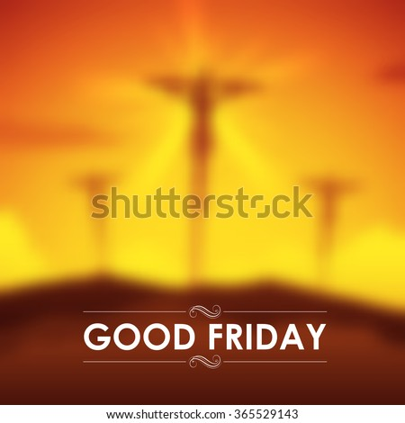 illustration of Jesus Christ crucifixion on Good Friday - stock vector