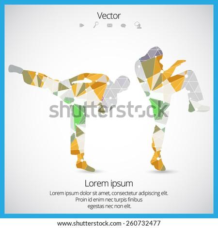 Illustration of karate. Vector - stock vector