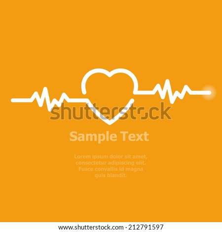 illustration of life line forming heart shape  - stock vector