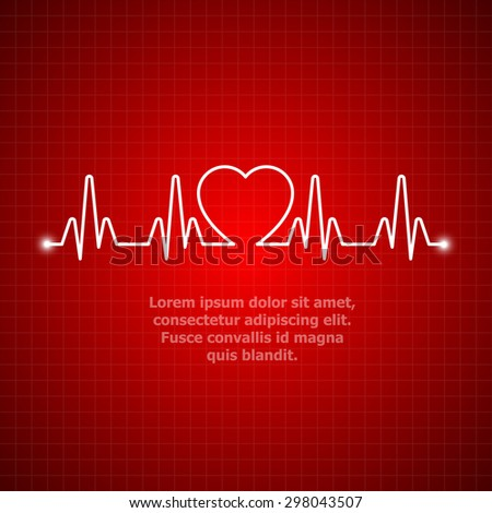 illustration of life line forming heart shape 