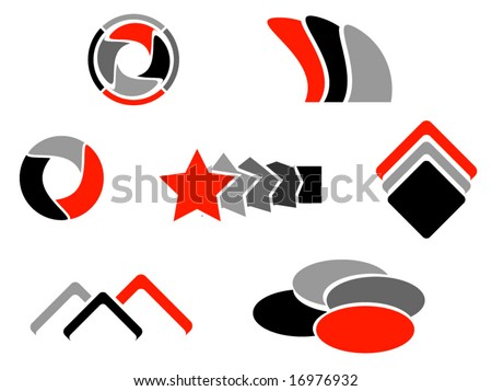 Illustration of logos elements - stock vector