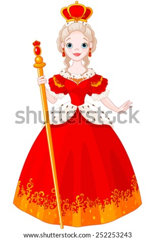 Illustration of majestic Queen - stock vector
