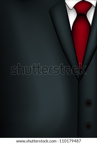 Illustration of mans suit. - stock vector