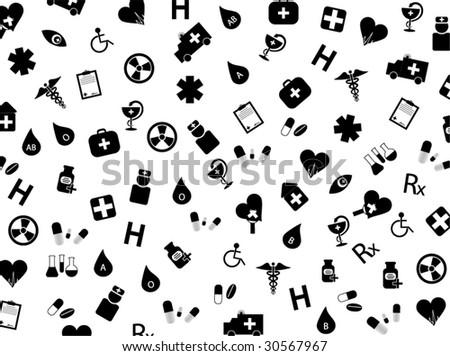 Illustration of medical background - stock vector