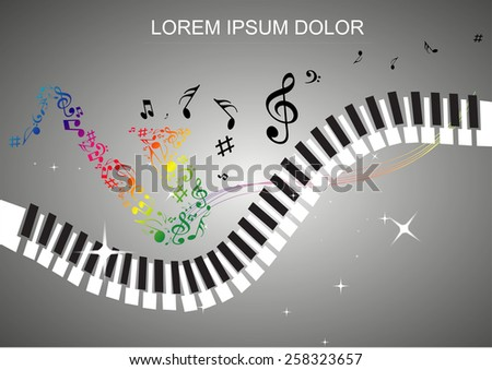 illustration of music background.  melody love music. - stock vector