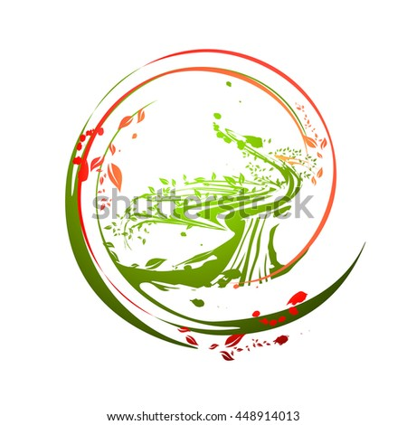Illustration of Old Abstract Life Time Tree - stock vector