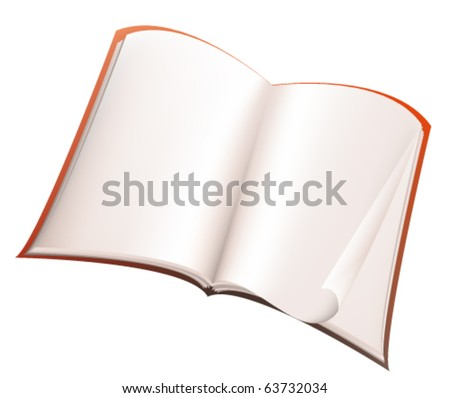 Illustration of open book isolated on white background - stock vector