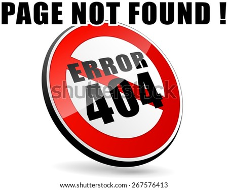 illustration of page not found design sign - stock vector