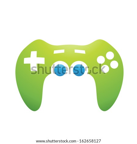 Illustration of PC Accessories Game Controller isolated on a white background - stock vector
