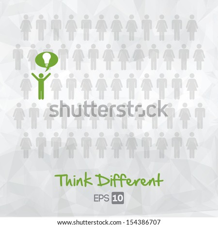 illustration of people icons, think different, vector illustration design - stock vector