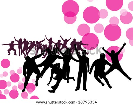 Illustration of people in action - stock vector