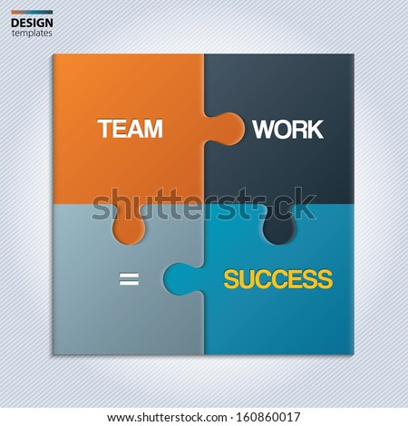 Illustration of piece of jigsaw puzzle showing business equation. - stock vector