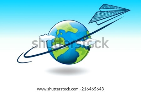 Illustration of planet Earth - stock vector