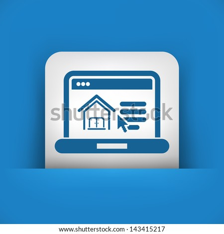 Illustration of real estate website icon - stock vector