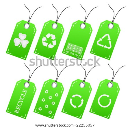 Illustration of recycle labels - stock vector