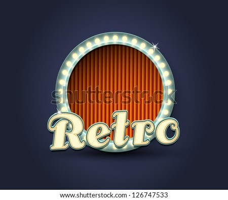 Illustration of retro, 1950s style - stock vector