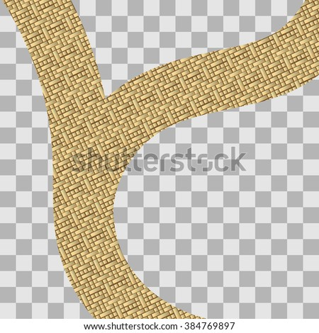 illustration of road made of gold - stock vector