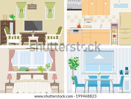 Illustration of room - stock vector