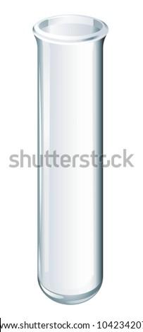 Illustration of scientific glassware - test tube - stock vector
