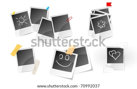 Illustration of set a photo frame - stock vector