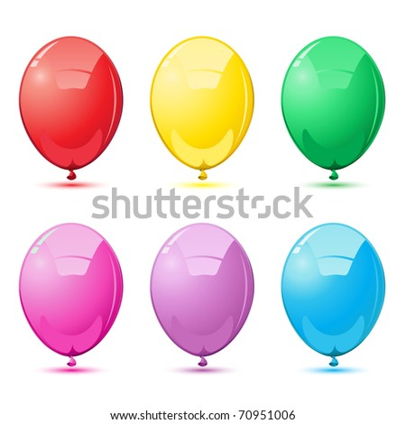 illustration of set of colorful balloon on isolated background - stock vector