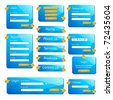 illustration of set of web form templates on isolated background - stock vector