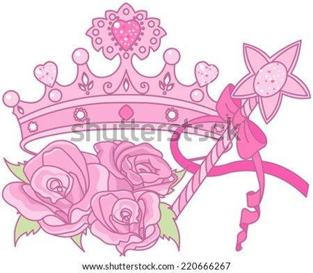 Illustration of Shiny crown  - stock vector