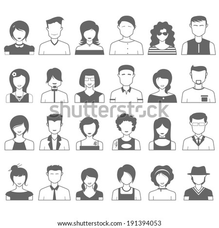 illustration of simple and clean people icon - stock vector