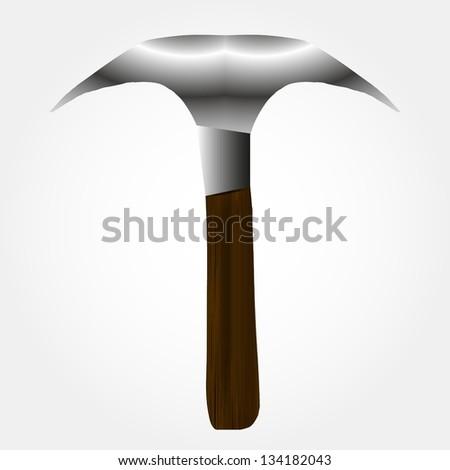 Illustration of snow hammer - stock vector