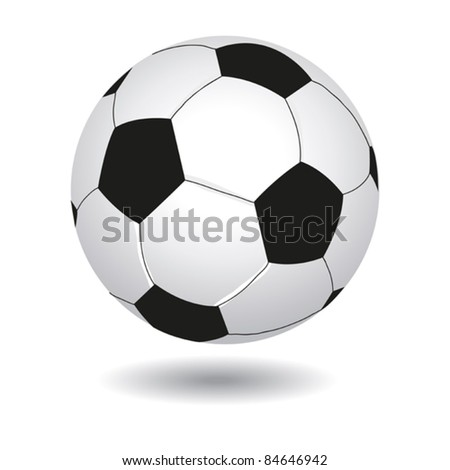illustration of soccer-ball isolated on white for your design - stock vector