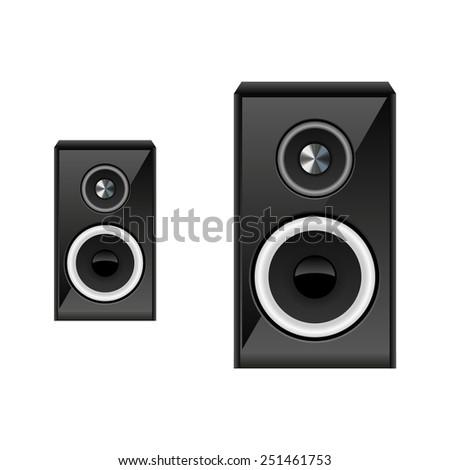 Illustration of speaker System - stock vector