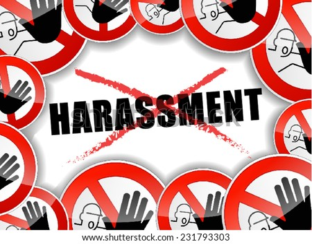 illustration of stop harassment design abstract concept - stock vector