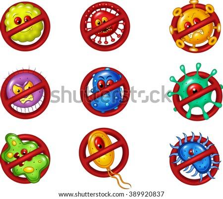 Illustration of stop virus - stock vector