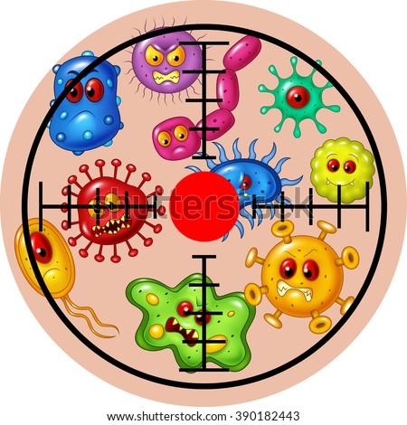 Illustration of target virus - stock vector