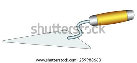 Illustration of the brick mason trowel icon - stock vector