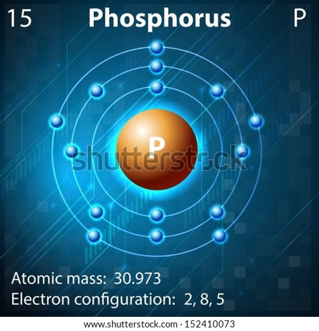 Illustration of the element Phosphorus - stock vector