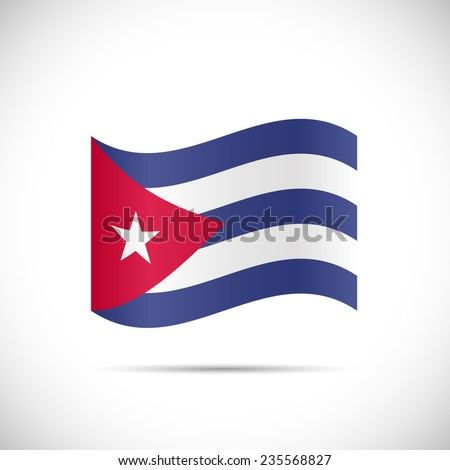 Illustration of the flag of Cuba isolated on a white background. - stock vector
