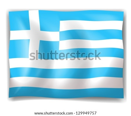Illustration of the flag of Greece on a white background - stock vector