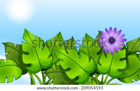 Illustration of the green leaves - stock vector