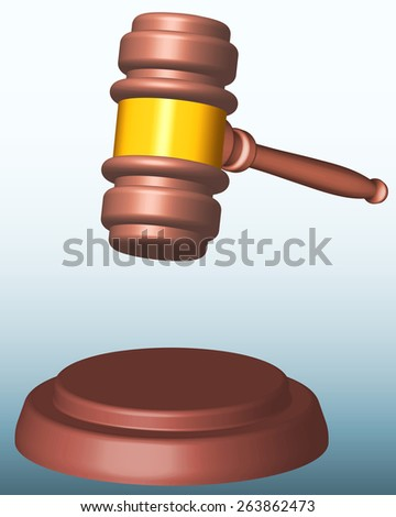Illustration of the judge or auction gavel - stock vector