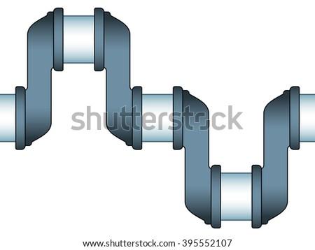 Illustration of the seamless engine crankshaft icon - stock vector