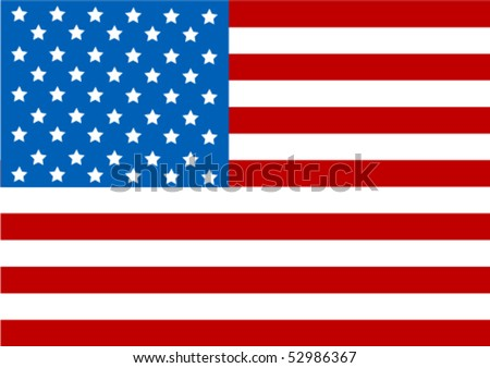 Illustration of the USA flag - stock vector