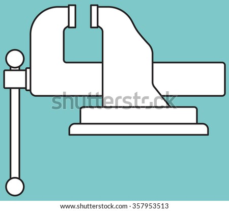 Illustration of the vice tool icon - stock vector