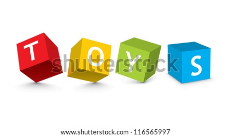 illustration of toy blocks - stock vector