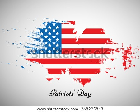 Illustration of U.S.A Flag for Patriots' Day - stock vector