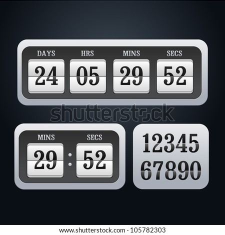 Illustration of vector countdown timer - stock vector
