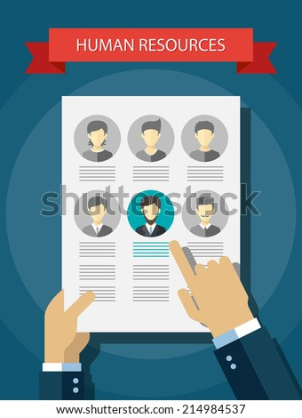 Illustration of vector human resources abstract composition - stock vector