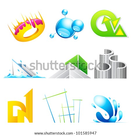 illustration of vector logo icon design for business branding - stock vector