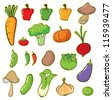 illustration of vegetables on a white background - stock vector